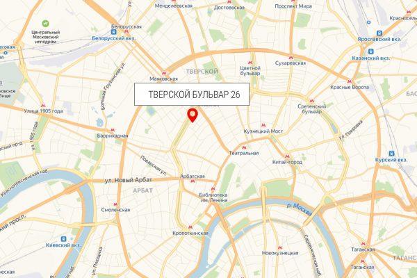 Карта Москва